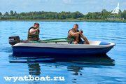Стеклопластиковая лодка «Пингвин» (моторно-гребная)