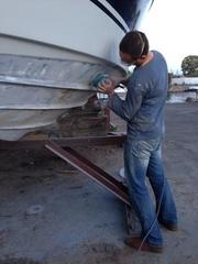 ремонт пластика на катера лодки яхты